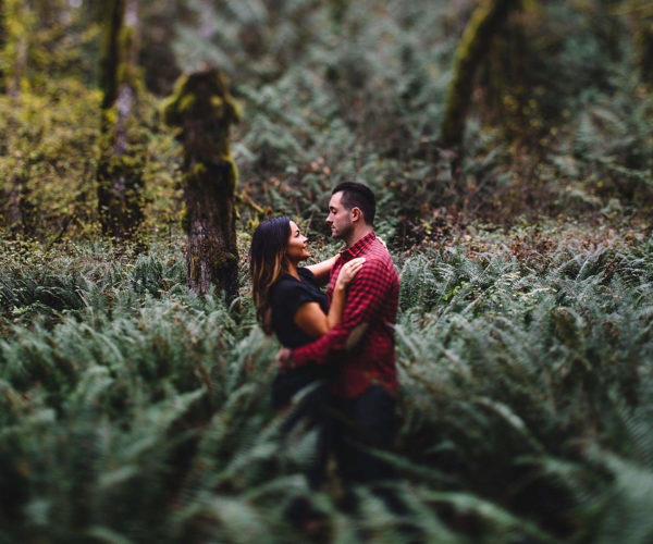 Fall Cabin Engagement on Mount Hood